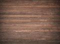 Brown wooden wall, table, floor surface. Dark wood texture. Royalty Free Stock Photo