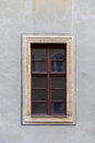 A brown, wooden window. Royalty Free Stock Photo