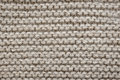 Brown wool knit texture of undyed natural alpaca knitted fabric with garter stitch pattern as background Royalty Free Stock Image