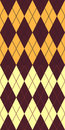 Brown and yellow argyle Royalty Free Stock Photography