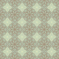 Brown and yellow pattern retro floral on a green background Royalty Free Stock Images