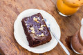 Brownie do chocolate Fotografia de Stock Royalty Free