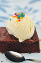 Brownie and ice cream Royalty Free Stock Photo