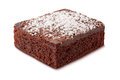 Brownie with Powdered Sugar Royalty Free Stock Photo