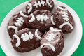 Brownies dadas forma futebol Foto de Stock Royalty Free