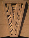 Brownstone carved accent Royalty Free Stock Images