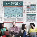 Browse browser connect internet layout concept Stock Image