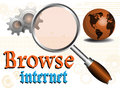 Browse the internet Royalty Free Stock Photo