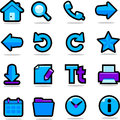 Browser icons set Royalty Free Stock Photography
