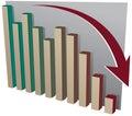 Börseensystemabsturzdiagramm Stockbild
