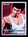 Bruce Lee Postage Stamp Royalty Free Stock Photo