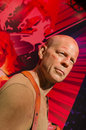 Bruce willis in the famous wax museum madame tussauds london england Stock Image