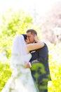 Brud och brudgum wedding day Arkivbilder