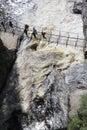 Brug over verontrust water Stock Foto's