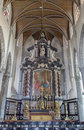 Bruges belgium june the main altar and presbytery in st jacobs church jakobskerk Stock Photo