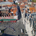 Bruges Center Aerial Royalty Free Stock Images