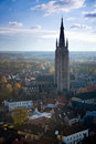 Bruges church of our lady tower Royalty Free Stock Photos