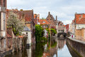 Bruges city in belgium world heritage site of unesco Royalty Free Stock Images