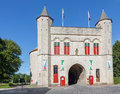 Bruges the cross gate kruispoort gate belgium june Royalty Free Stock Photo