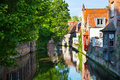 Bruges, medieval city in Belgium Royalty Free Stock Photography