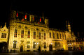 Bruges at night Royalty Free Stock Photo