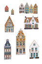 Bruges souvenir magnets isolated on white Royalty Free Stock Photography