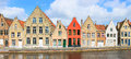 Bruges town in belgium panorama of world heritage site of unesco Royalty Free Stock Photos