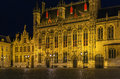 Bruges town hall, Belgium Royalty Free Stock Photo