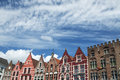 Brugge buildings colourful historic in against a blue sky Royalty Free Stock Photography