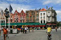 Brugge, Burges Grote Markt Square Royalty Free Stock Image
