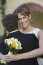 Bruid en bruidegom dancing Royalty-vrije Stock Fotografie