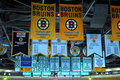 Bruins and Celtics Banners Stock Image