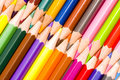Brunch of colored crayons Royalty Free Stock Photo