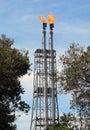 Brunei. Exceso de Burn-Off del gas Fotografía de archivo libre de regalías