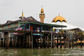 Brunei s water village with mosque called kampong ayer in bandar seri begawan famed on villages are fully self sufficient their Stock Photo