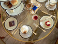 Brunei. Set High-Tea Table (aerial) Royalty Free Stock Photo
