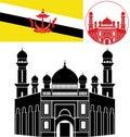Brunei vector illustration eps Stock Photo