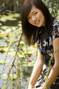 Brunette asian girl Royalty Free Stock Images