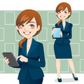 Brunette Business Woman Royalty Free Stock Images
