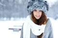 Brunette   girl i winter clothes Royalty Free Stock Photo
