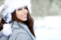 Brunette   girl i winter clothes Stock Photo