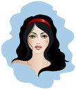 Brunette with green eyes vector illustration of a Royalty Free Stock Photos