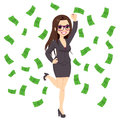 Brunette rich successful business woman Lizenzfreies Stockfoto