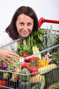 Brunette vegetarian Stock Photo