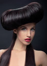 image photo : Brunette woman with hairstyle