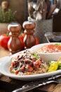 Bruschetta chicken with rice Royalty Free Stock Photo