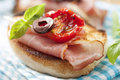 Bruschetta with parma ham Royalty Free Stock Photo