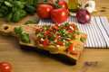 Bruschetta recipe Royalty Free Stock Images