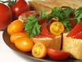 Bruschetta and tomatoes Royalty Free Stock Photography