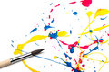 Brush and abstract paint Royalty Free Stock Images